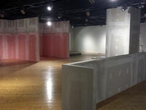 arredamento cartongesso spazio espositivo fiera