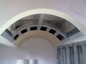 costruzione arco cartongesso ristorante perugia