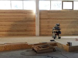 costruzione soppalco e parete legno