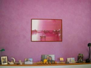 tinteggiatura casa castiglione del lago parete rosa