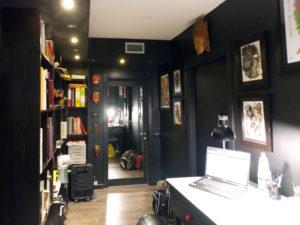 tinteggiatura pareti nero ufficio