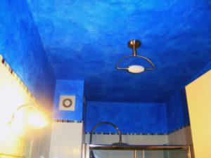 tinteggiatura velatura blu soffitto casa perugia