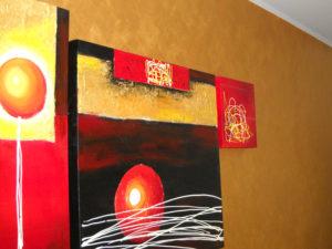 velatura parete casa marsciano oro quadri